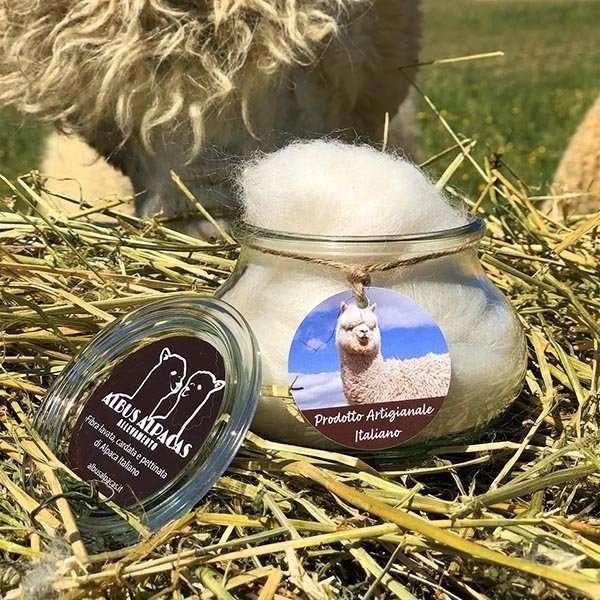 Barattolo di fibra di alpaca